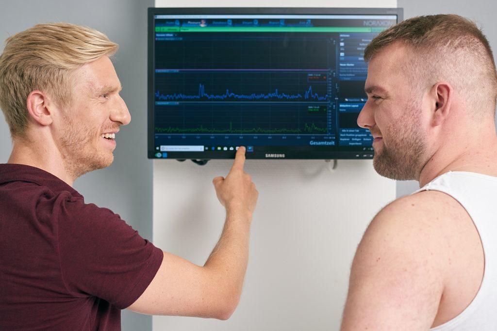 Nach der Kraftdiagnostik geben unsere Experten detaillierte Empfehlungen für Ihre Therapie oder Ihr Training.